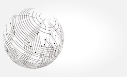 Абстрактная иллюстрация технологии Стоковые Фотографии RF