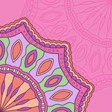 Абстрактная иллюстрация этнической мандалы орнамента Стоковое Изображение RF