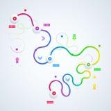 Абстрактная иллюстрация infographic Стоковые Фотографии RF
