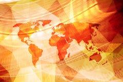 Абстрактная карта мира с предпосылкой двоичных чисел Стоковая Фотография RF