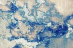 Абстрактная картина акварели, облака, небо Стоковые Фотографии RF