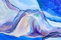 Абстрактная картина акварели, картина гуаши на бумажной текстуре Стоковое фото RF