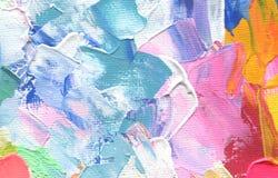 Абстрактная картина акриловых и акварели Предпосылка текстуры холста стоковая фотография rf