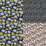 абстрактная картина безшовная Комплект косоугольник иллюстрация вектора