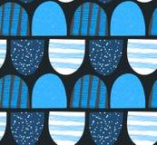 абстрактная картина безшовная Arched текстурировало формы Красочная творческая повторяя предпосылка Стоковая Фотография RF