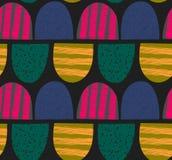 абстрактная картина безшовная Arched текстурировало формы Красочная творческая повторяя предпосылка Стоковое Изображение RF