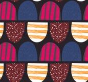 абстрактная картина безшовная Arched текстурировало формы Красочная творческая повторяя предпосылка Стоковое Изображение