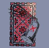 Абстрактная картина брызга красное изображение в квадратной рамке Стоковые Фото