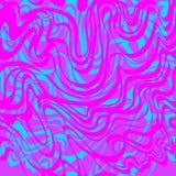 Абстрактная картина вектора голубого и фиолетового муара кисловочная Стоковое Изображение RF