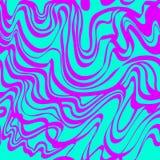 Абстрактная картина вектора голубого и фиолетового муара кисловочная Стоковые Фото