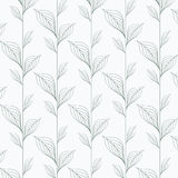 Абстрактная картина вектора лист, повторяя линейные листья, цветок, каркасные листья, трава иллюстрация штока
