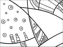 Абстрактная картина вектора, черно-белые doodles Предпосылка для плаката, открытки, фона Иллюстрация с абстрактными формами иллюстрация вектора