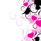 абстрактная картина влюбленности сердца Иллюстрация штока