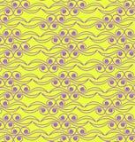 Абстрактная картина в желтой и фиолетовом. Стоковое фото RF