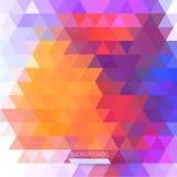 Абстрактная картина геометрических форм. Стоковая Фотография RF