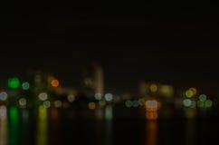 Абстрактная картина города ночи Стоковое Изображение