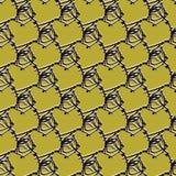 Абстрактная картина звена цепи проволочной изгороди, безшовная предпосылка вектора иллюстрация вектора