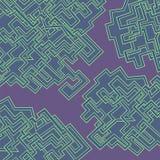 Абстрактная картина линий иллюстрация вектора