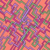 Абстрактная картина линий Стоковые Изображения RF