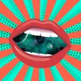 Абстрактная картина искусства grunge космической техники Стоковое Фото