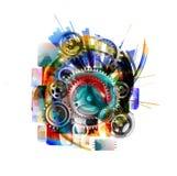 Абстрактная картина искусства grunge космической техники Стоковые Фотографии RF