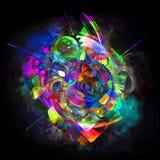Абстрактная картина искусства grunge космической техники Стоковые Фото