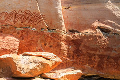 Абстрактная картина как человек на скале, Таиланд Стоковые Фотографии RF