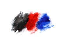 Абстрактная картина, красная голубая и черная краска Стоковые Изображения RF