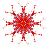 Абстрактная картина красного цвета и брызгает краски Стоковое Фото