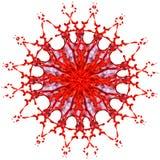 Абстрактная картина красного цвета и брызгает краски Стоковое фото RF