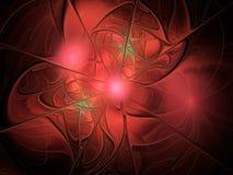 Абстрактная картина красного цвета фрактали Стоковая Фотография