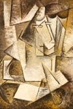 абстрактная картина маслом кубизма Стоковая Фотография RF