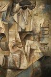 абстрактная картина маслом кубизма Стоковое фото RF
