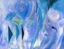 абстрактная картина маслом холстины Стоковые Фотографии RF