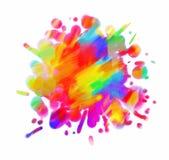 абстрактная картина маслом иллюстрация вектора