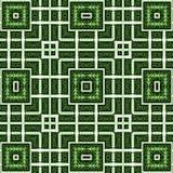 Абстрактная картина орнамента, нашивки, квадрат Зеленые, белые цвета Стоковая Фотография