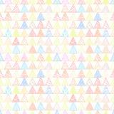 Абстрактная картина пастели света треугольников Стоковая Фотография RF