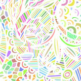 Абстрактная картина покрашенных линий на белизне иллюстрация штока