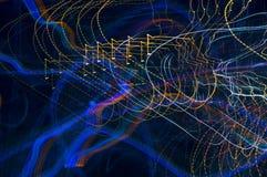 Абстрактная картина светов города Стоковое фото RF