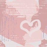 абстрактная картина сердца безшовная Стоковые Фотографии RF