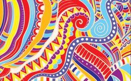 Абстрактная картина составленная цветка вектор Стоковое Изображение
