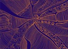 Абстрактная картина, стиль ethno, стильная предпосылка, оранжевый цвет Стоковое Изображение