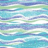 Абстрактная картина с волнами иллюстрация вектора