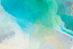 Абстрактная картина с зелеными тонами Высокое фото разрешения Стоковое Изображение RF
