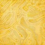 Абстрактная картина с золотым орнаментом листвы Стоковое Изображение RF