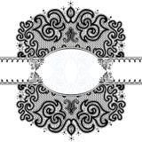 Абстрактная картина с диапазоном для подписи Стоковое фото RF