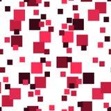 Абстрактная картина с красными площадями вектор предпосылки безшовный Стоковые Фотографии RF