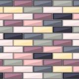 Абстрактная картина с красочными элементами кирпича Стоковое фото RF