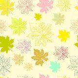 Абстрактная картина с кленовыми листами Стоковые Фотографии RF