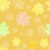 Абстрактная картина с кленовыми листами Стоковое фото RF